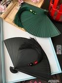 扇子 日式中國風全竹扇子折扇鏤空古風男女士折疊扇手工小5寸舞蹈扇黑 夏季新品