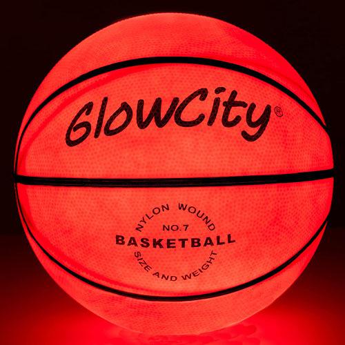 [2美國直購] 發光籃球 GlowCity Glow in The Dark Basketball - Light Up, Indoor or Outdoor Basketballs