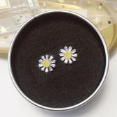 小雛菊耳環女氣質韓國花朵耳釘短款純銀耳飾