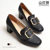 紳士鞋 方頭釦飾粗跟鞋 - 山打努SANDARU【1015201#46】