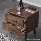北歐床頭櫃全實木小戶型床邊櫃胡桃色日式充電智能床頭櫃簡約現代