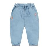 mothercare 灰藍綁帶束口長褲-春天花園(M0PD621)12M~5A