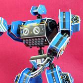 佳廷模型 親子DIY紙模型立體勞作3D立體拼圖專賣店 機器人裝甲獸 射手座 關節可動Microrobot麥克羅伯