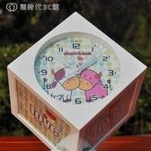 旋轉魔方相架相框 時尚卡通時鐘音樂盒擺臺影樓6寸4張 YJT 【創時代3c館】