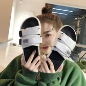 拖鞋女夏外穿防滑一字拖情侶沙灘平跟韓版潮流時尚網紅戶外涼拖鞋