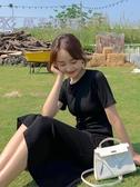 內搭長裙 2020新款夏裝赫本風女法式連衣裙韓版內搭小黑裙收腰顯瘦氣質裙子