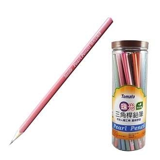 Tomato 三角珠光 2B 鉛筆 50支/筒 顏色隨機出貨 P-06 3088