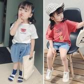 女童短袖T恤夏裝新款嬰兒童洋氣半袖小童寶寶韓版純棉上衣季 快速出貨