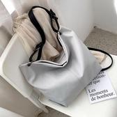 側背大包包女韓版百搭斜背包時尚大容量托特包【聚寶屋】