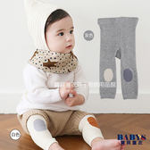 童襪 褲襪 素色簡約膝蓋撞色內搭褲 寶貝童衣