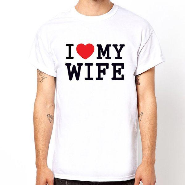 【Dirty Sweet】I Love My Wife短袖棉質T-白色 我愛我的老婆情人節 情侶T Gildan 390