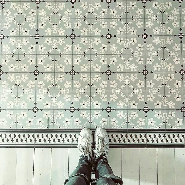 地墊  幾何形 磚紋 Beija Flor Tile Flooring Al1 (50×120)
