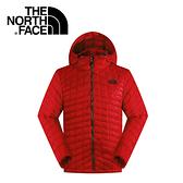 【The North Face 男 ThermoBall暖魔球 保暖兜帽外套 紅】C938/暖魔球外套