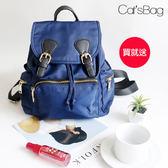 英倫時尚輕量MINI雙扣後背包-Catsbag-40050611