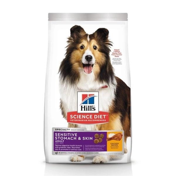 『寵喵樂旗艦店』希爾思Hill's《成犬 敏感胃腸與皮膚-雞肉特調食譜》4磅【10115】