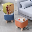 沙發凳布藝小凳子家用實木小矮凳子換鞋凳小...