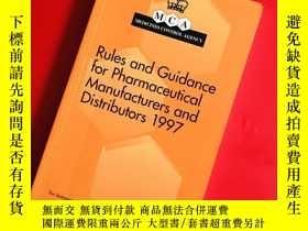 二手書博民逛書店Rules罕見and Guidance for Pharmaceutical Manufacturers and