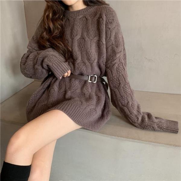 針織毛衣 新款秋冬季森系麻花套頭毛衣女寬鬆韓版加厚慵懶風粗毛線外穿【快速出貨八折鉅惠】