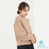 「Winter」素面蓬鬆毛絨針織上衣 - earth music&ecology