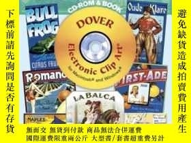二手書博民逛書店Vintage罕見Label Art Cd-rom And BookY256260 Carol Belange