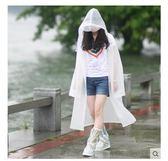 半透明環保成人雨衣加長款雨披男女戶外徒步旅遊LYH875【大尺碼女王】