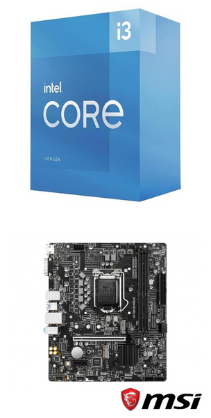 【自組DIY兩件組I3】Intel i3-10105+微星 H510M BOMBER