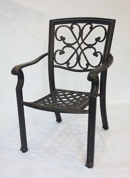 【南洋風休閒傢俱】戶外休閒桌椅系列- 鋁合金扶手餐椅  戶外休閒餐椅  (#20312)