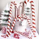 圣誕節裝飾紅白拐杖15cm至90CM彩繪拐杖舞蹈影樓喜慶節日用品道具