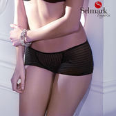 selmark出清-緞面S-L平口褲(黑)S8205