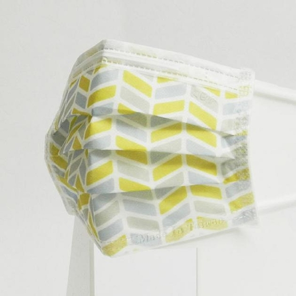 宏瑋 節慶 卡通 圖案 醫療口罩 灰黃城市 成人用 5片/包 台灣製造
