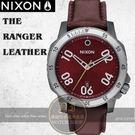 NIXON 實體店THE RANGER LEATHER復古腕錶A508-2073公司貨/極限運動/禮物/