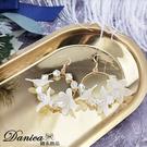 現貨 韓國仙女氣質浪漫百搭幾何花朵水晶垂墜耳環 夾式耳環 S93527 批發價 Danica 韓系飾品