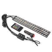 汽車裝飾燈 車內氛圍燈改裝led腳底燈 音樂聲控節奏七彩USB氣氛燈