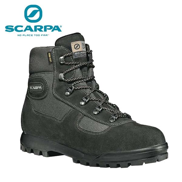 義大利【SCARPA】Lite Trek GTX 中性防水登山鞋 黑/瀝青
