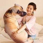 創意仿真狗狗抱枕3d毛絨玩具動物公仔大號布娃娃「時尚彩虹屋」