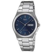CASIO 時尚經典星期日期顯示指針錶-羅馬藍面(MTP-1240D-2A)