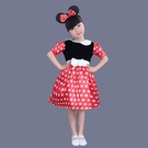 萬聖節平安夜 新款特價女童米妮裙表演服裝 花童米奇演出服裝 (有髮圈)
