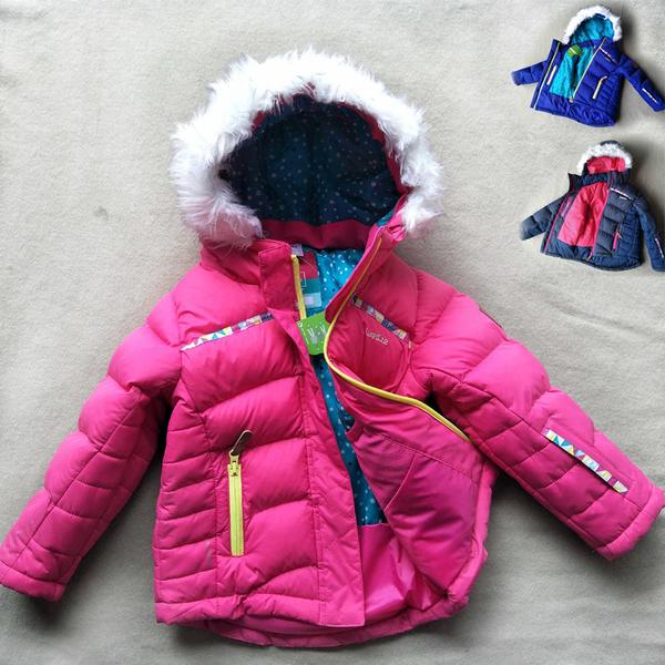 男女童毛毛帽防風防潑水雪衣 滑雪衣 寒流 保暖厚外套夾克 橘魔法 兒童保暖滑雪裝 滑雪 雪衣