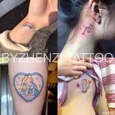 紋身貼 美少女戰士愛麗絲獨角獸肩膀手臂頸部胳膊紋身貼
