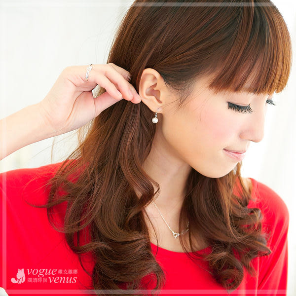 日沐柔光 純白小珍珠優雅款耳環 925純銀耳環 - 維克維娜