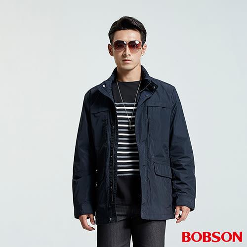 BOBSON 男款隱藏帽防風外套(36031-53)