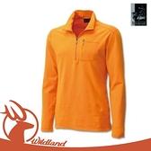 【Wildland 荒野 男 彈性銀離子保暖上衣《亮橘》】0A12602/休閒衫/透氣/彈性/保暖衣