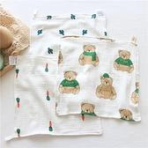 3條|日系紗布方巾新生嬰兒口水巾寶寶洗臉毛巾兒童手帕【奇趣小屋】