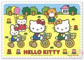 ♥小花花日本精品♥ Hello Kitty 餐墊 腳踏車 小兔子 氣球 森林 樹 蝴蝶結 四入組 日本限定 (預購)