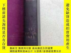 二手書博民逛書店1933年英文原版圖書--傳染病學雜誌JOURNAL罕見OF I