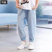 左西童裝男童防蚊褲夏裝2019新款 兒童褲子長褲薄款中大童韓版潮