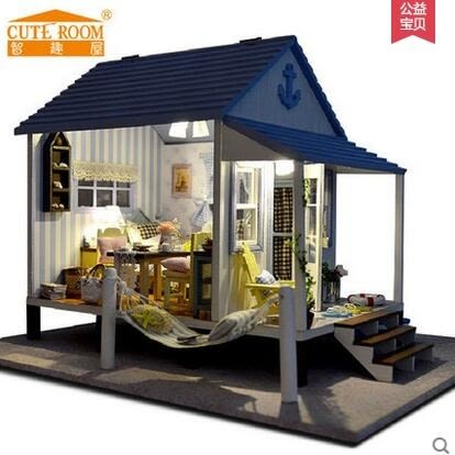 智趣屋diy小屋手工拼裝房子模型玩具屋大型別墅房子創意生日禮物