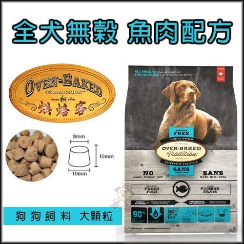 『寵喵樂旗艦店』烘焙客(非吃不可)Oven-Baked《全犬-無穀魚肉配方(大顆粒)》5磅