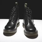 男靴 馬丁靴男高筒英倫風真皮短靴百搭夏季中筒工裝靴