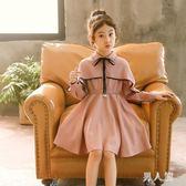 女童洋裝兒童裝女童長袖秋裝新款公主裙子小孩洋氣3-9歲 zm9579『男人範』